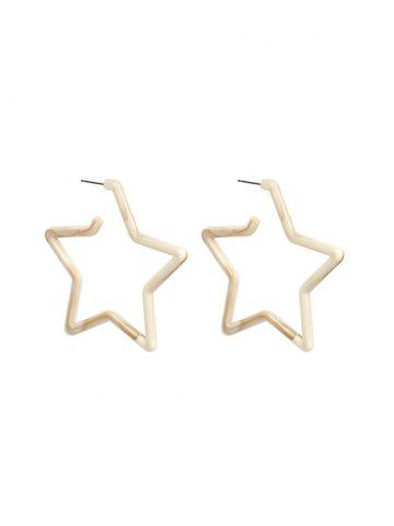 Acrylic Star Earrings
