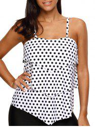 Polka Dot Layered Tankini Swim Top -