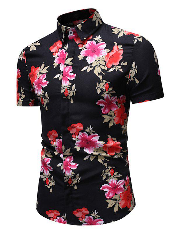Online Floral Pattern Button Casual Shirt