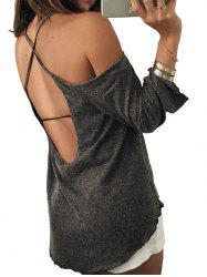 Open Back Space Dye Cami Tee -