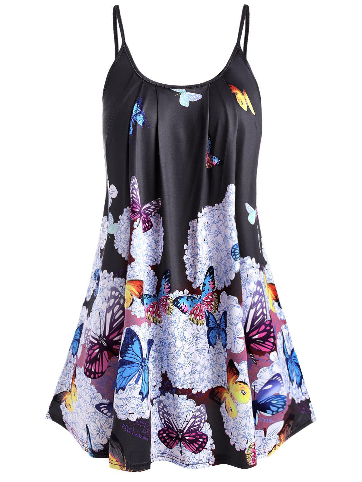 Outfits Plus Size Spaghetti Strap Butterfly Print Tank Top
