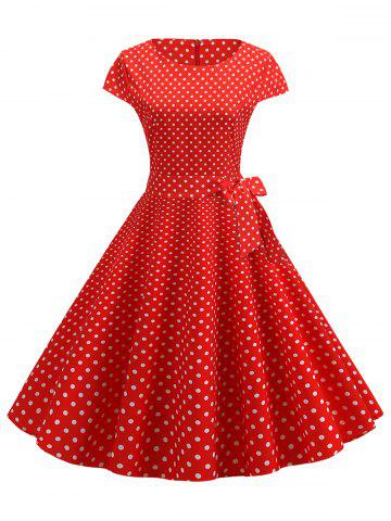 Polka Dot Belted Vintage Dress