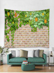 Brick Wall Flower Vines Print Tapestry Wall Hanging Art Decoration -