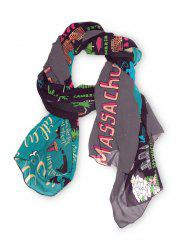 Vintage Map Printed Long Scarf -