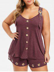 Plus Size O Rings Two Piece Outfits -