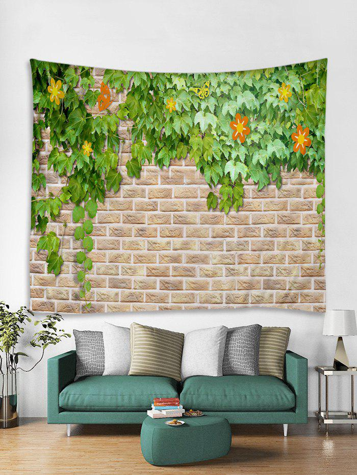 Sale Brick Wall Flower Vines Print Tapestry Wall Hanging Art Decoration