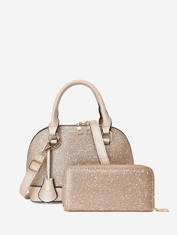 Unique Glitter Two-piece Shell Tote Bag Set