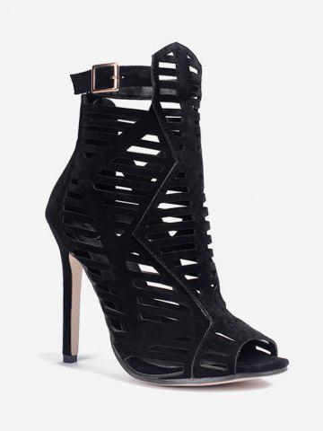 Peep Toe Caged Super High Heel Sandals