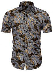 Palm Print Short Sleeves Shirt -
