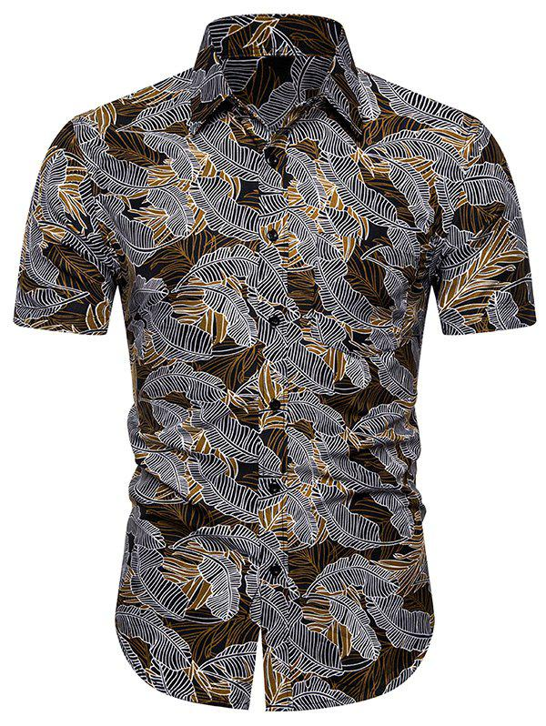 Outfit Palm Print Short Sleeves Shirt