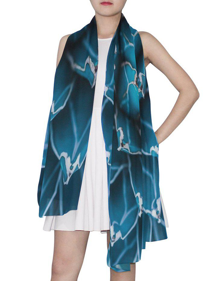 Discount Plant Print Long Scarf