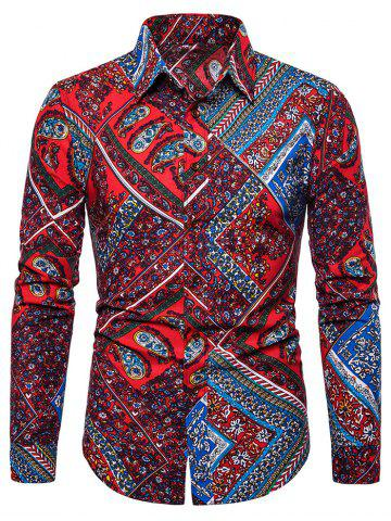 Paisley Print Long Sleeves Shirt