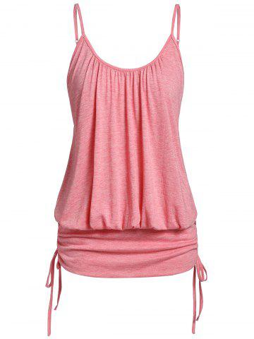 Plus Size Cami Ruched Space Dye Tank Top