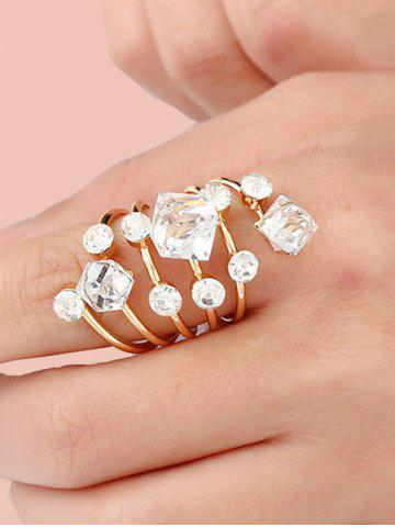 Geometric Faux Crystal Spring Ring