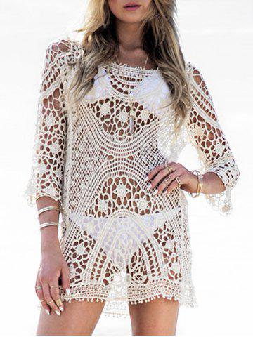 Longline Crochet Beach Cover Up