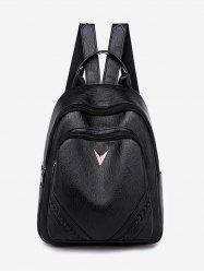 PU Leather Outdoors Backpack -