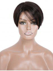Short Side Part Straight Human Hair Wig -