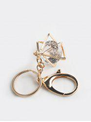 Square Faux Crystal Pendant Key Chain -