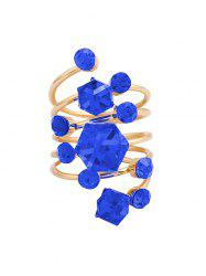 Geometric Faux Crystal Spring Ring -