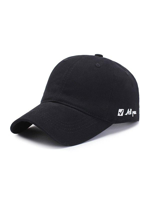 Outfits Adjustable Letter Embroidered Graphic Baseball Hat