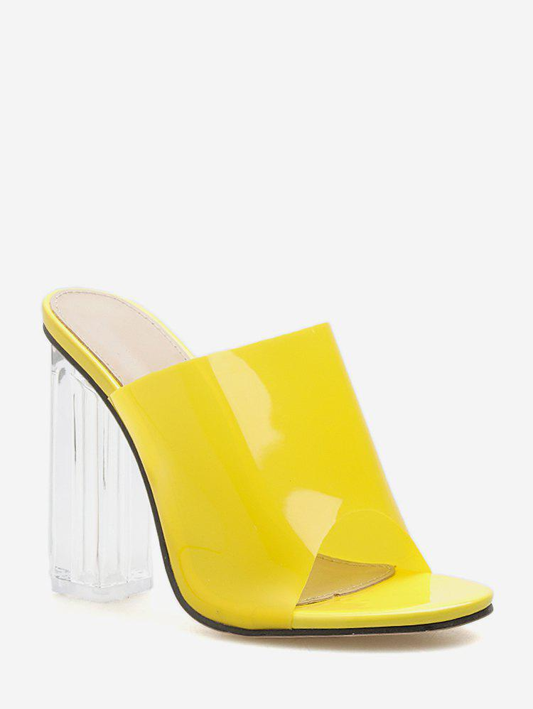 Outfit PVC Clear Super High Heel Slides