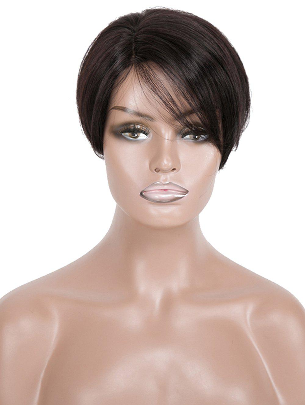 Buy Short Side Part Straight Human Hair Wig