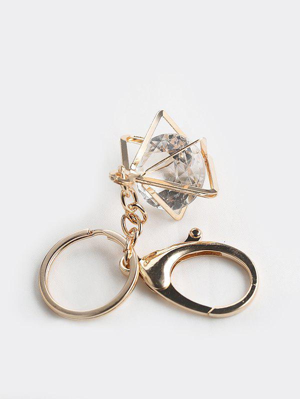 Outfit Square Faux Crystal Pendant Key Chain