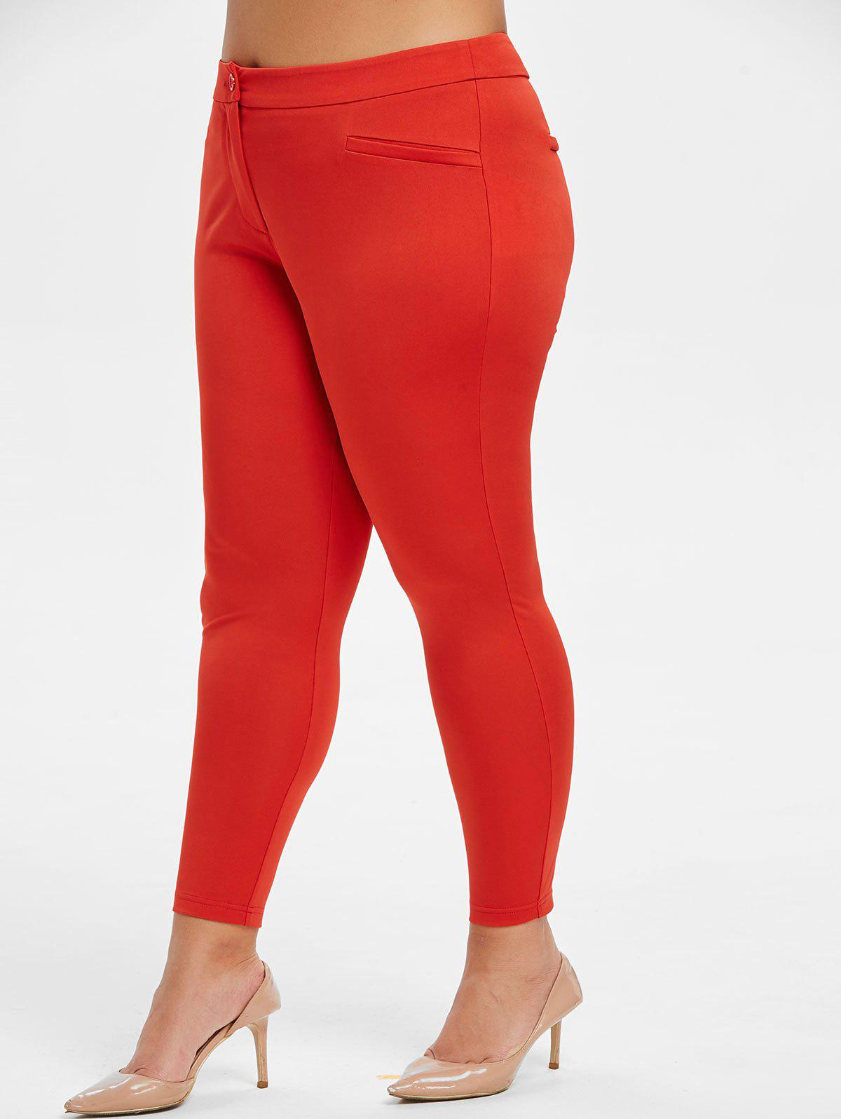 Outfits Plus Size High Rise Skinny Neon Pants
