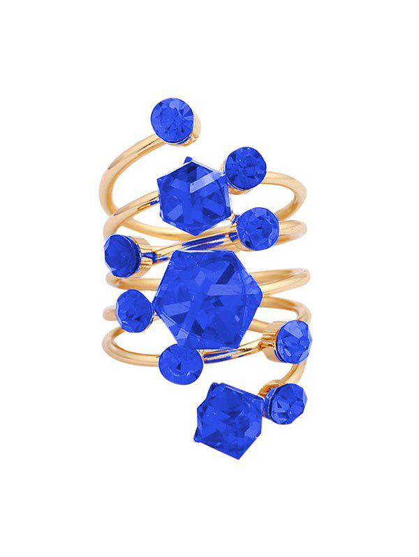 Cheap Geometric Faux Crystal Spring Ring