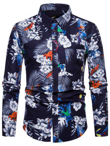 Flower Print Casual Style Long Sleeves Shirt