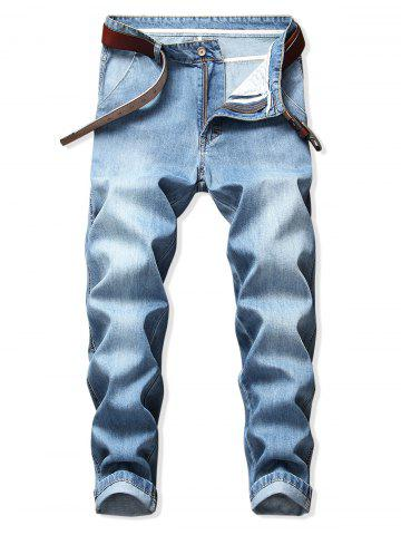 Casual Washed Denim Pencil Pants