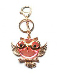 Faux Crystal Owl Key Chain -