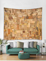 3D Wooden Pattern Tapestry -