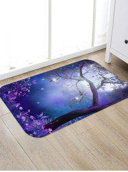 Dreamy Flower Forest Moon Scenery Print Area Rug -