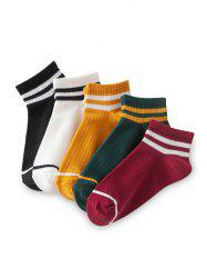 Striped Breathable Sport Ankle Socks -