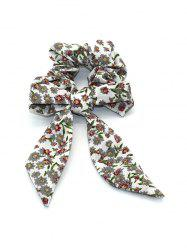 Flower Printed Bowknot Elastic Hair Band -