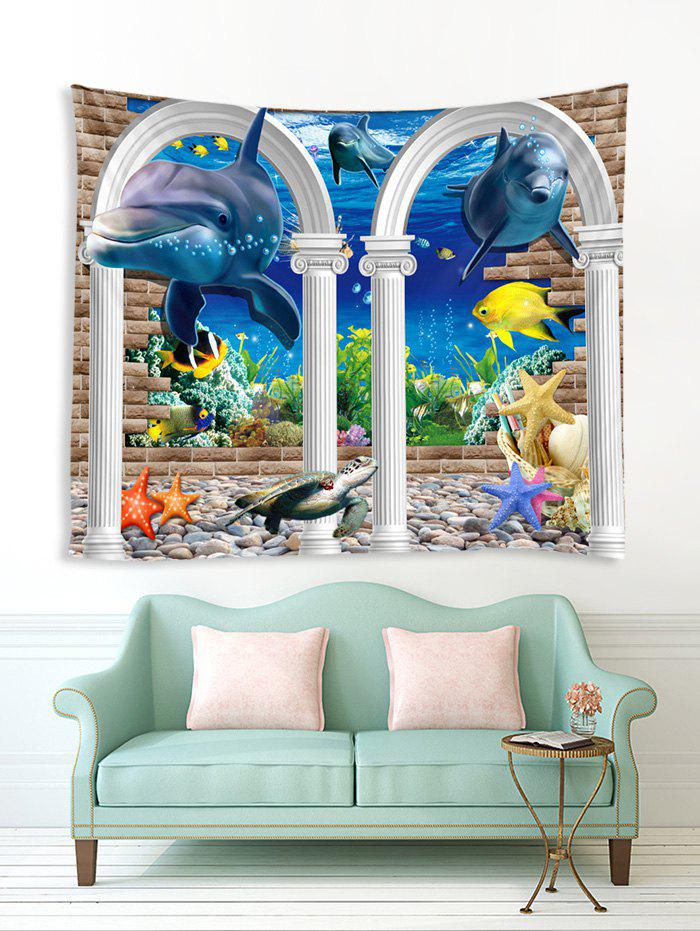 Outfits Underwater Arch Dolphin Print Tapestry Wall Hanging Art Decoration
