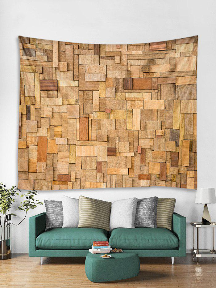Unique 3D Wooden Pattern Tapestry