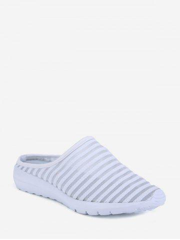 Striped Breathable Mesh Slingback Casual Shoes