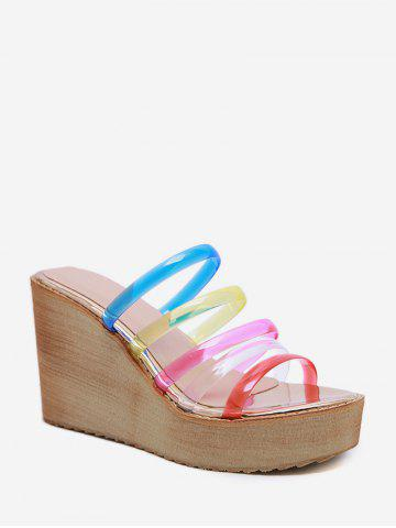 Wedge Heel Colorful Jelly Slippers