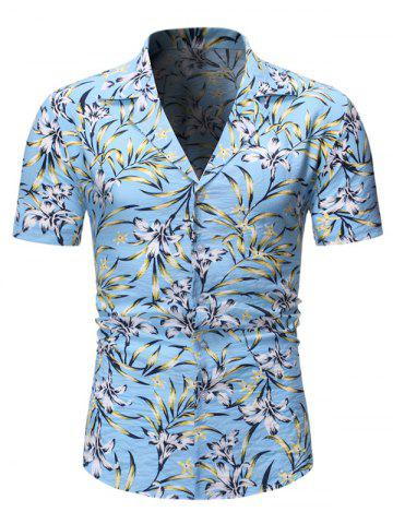 Floral Pattern Short Sleeves Casual Style Shirt