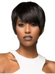 Side Bang Straight Short Synthetic Front Lace Wig -