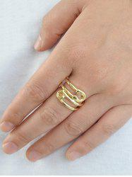 Bague en Forme d'Epingle en Alliage -