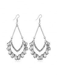 Rhinestone Water Drop Chandelier Earrings -