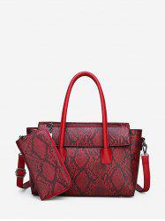 Animal Skin Print Pattern Handbag Purse Set -
