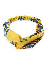 Leaf Printed Elastic Hair Band -