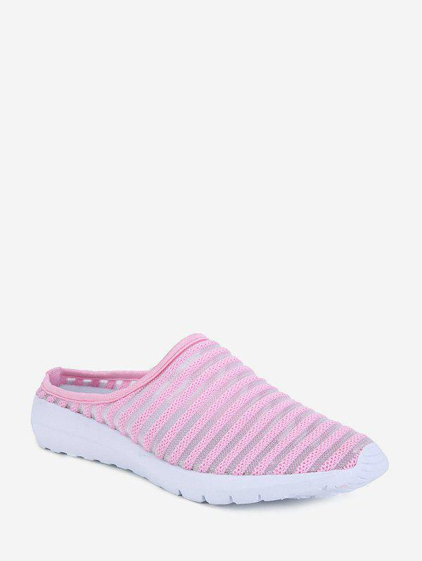 Fancy Striped Breathable Mesh Slingback Casual Shoes