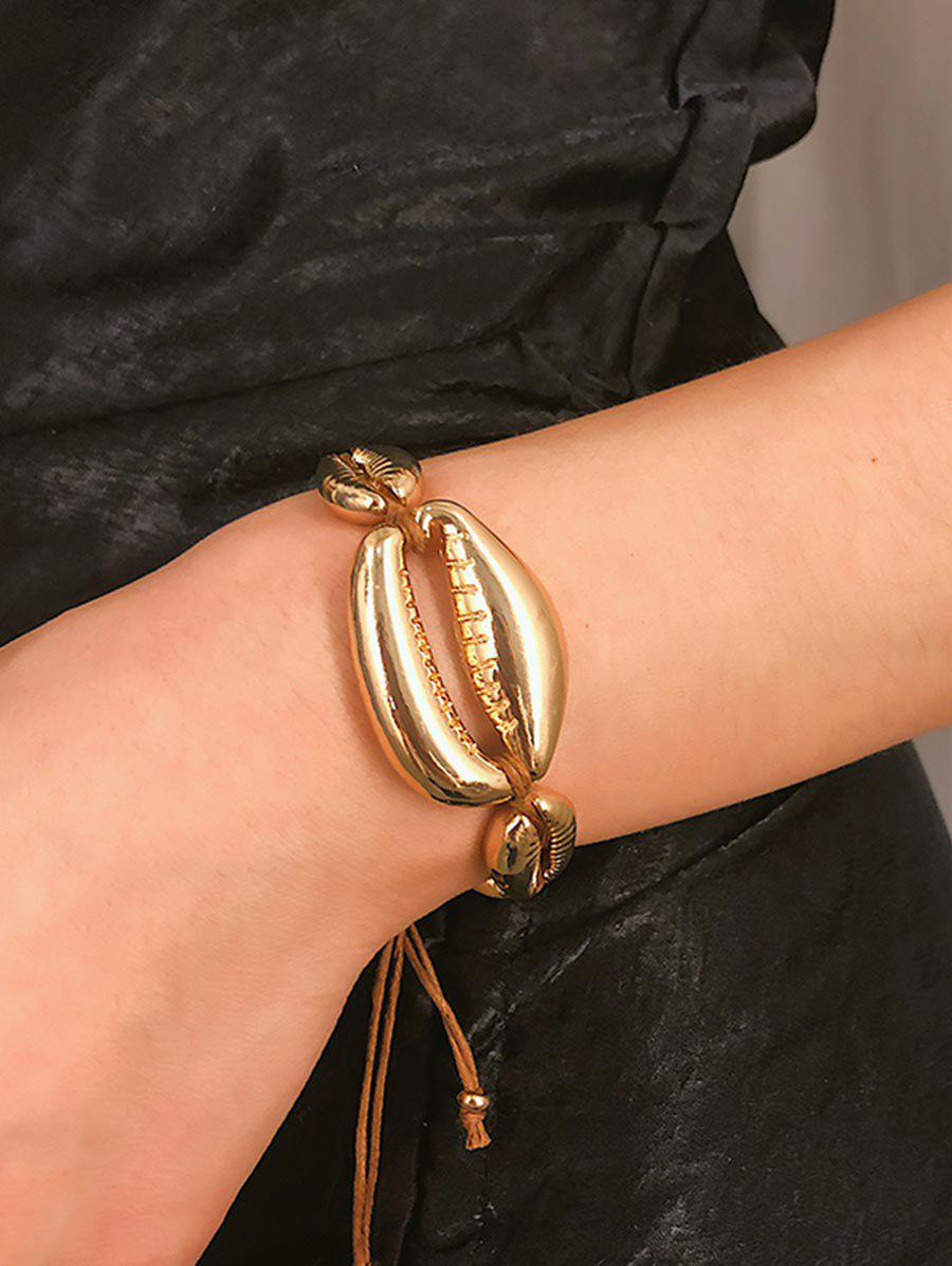 Store Metallic Shell Adjustable Bracelet