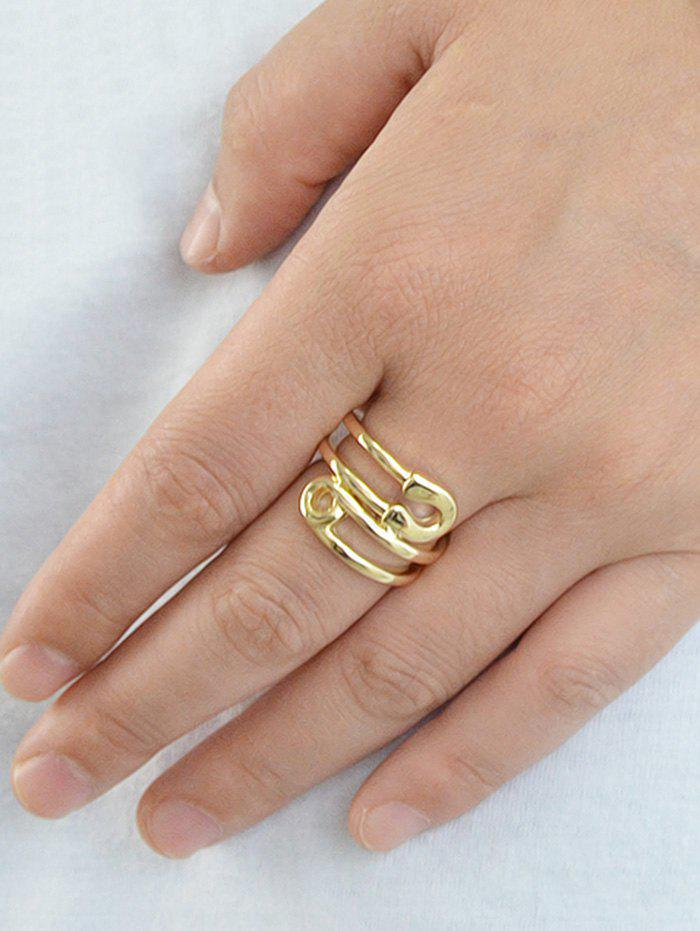 Bague en Forme d'Epingle en Alliage