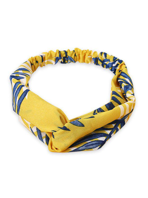 Discount Leaf Printed Elastic Hair Band
